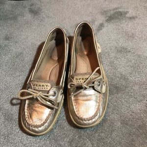 Bronze Sperry Loafers